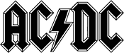 ACDC Classic Logo with Bolt
