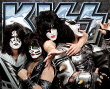 Kiss band members posing together
