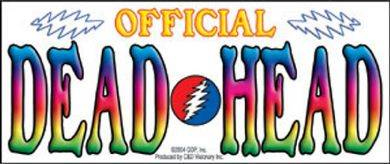 Grateful Dead Official DeadHead Bumper Sticker