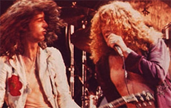Led Zeppelin Robert Plant and Jimmy Page